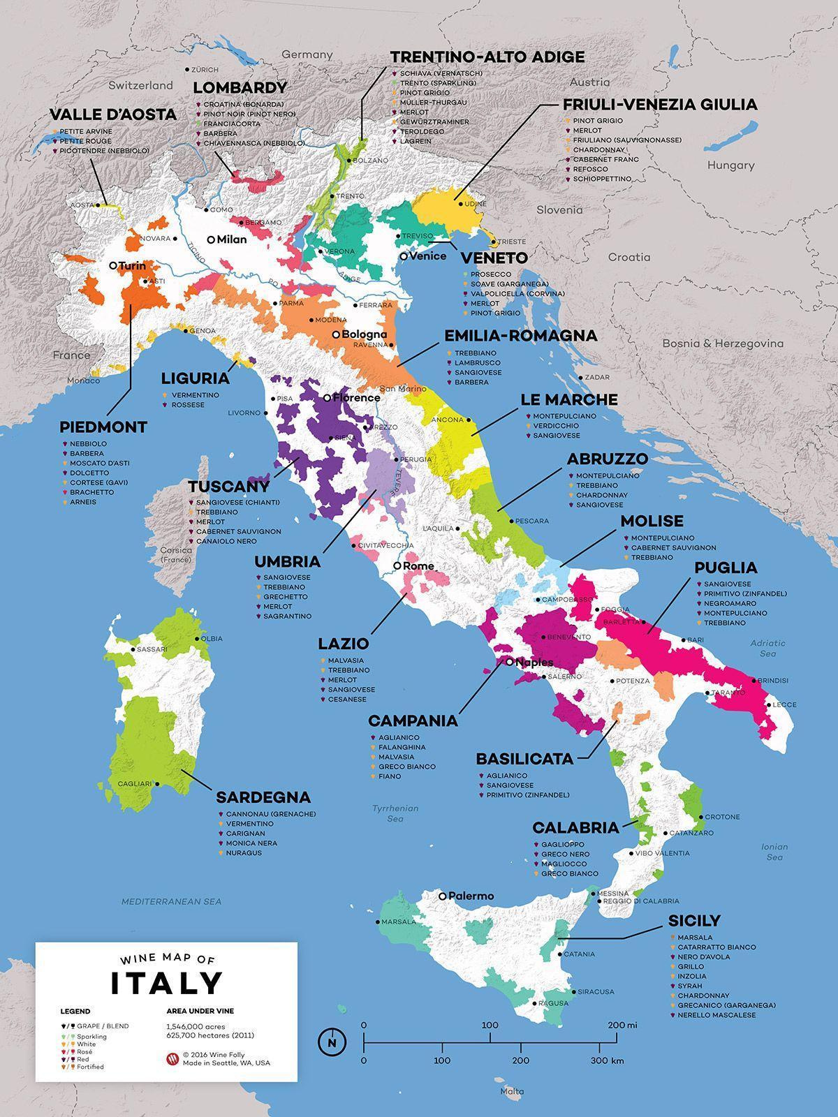 Italien Karte Regionen.Italien Wein Regionen Landkarte Italien Wein Karte Europa Süd
