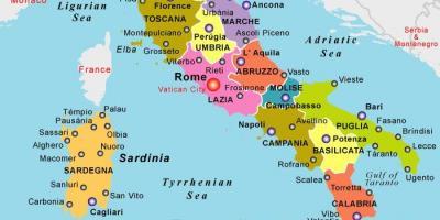 puglia italien karta Italien park Karte   Italien national parks Karte (Europa Süd  puglia italien karta